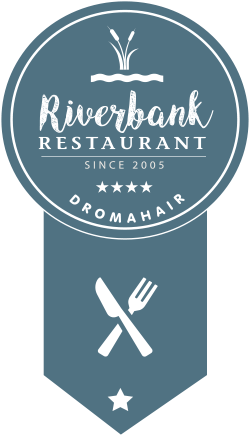 Riverbank Restaurant Dromohair logo